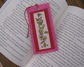 SALE - Green Vine with Red Berries Bookmark