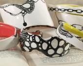 MODERN HANDMADE Ceramic Bracelets- Made to order & One of a Kind