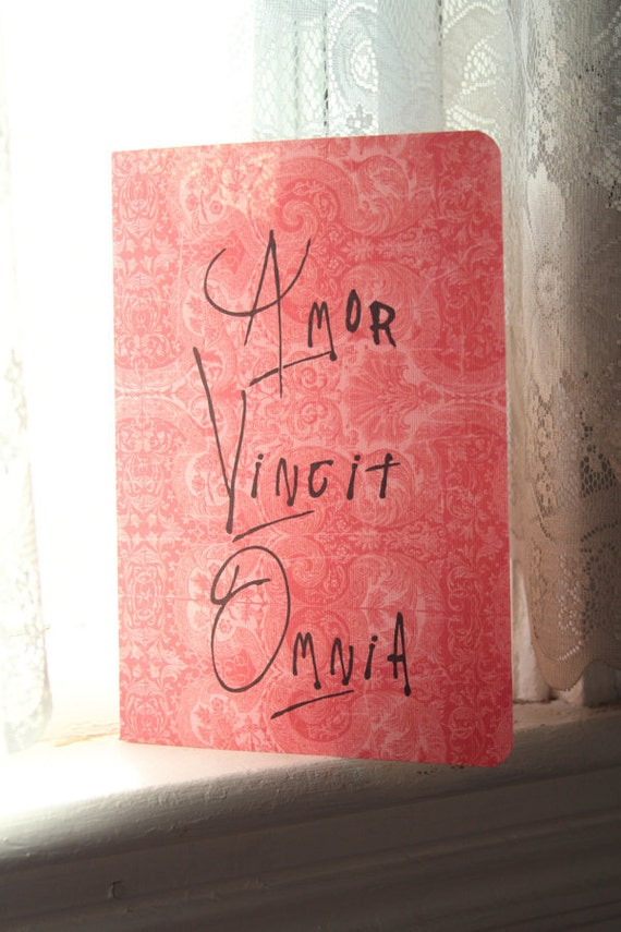Amor Vincit Omnia Journal - Latin Quote
