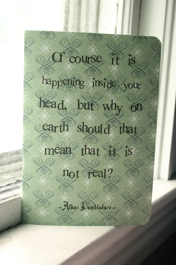 Albus Dumbledore Journal - Inside Your Head Quote