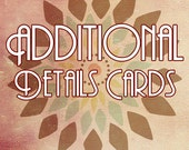 Additional Details Cards