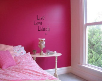 Live love laugh wall art wall sayings vinyl letters stickers decals home decor family