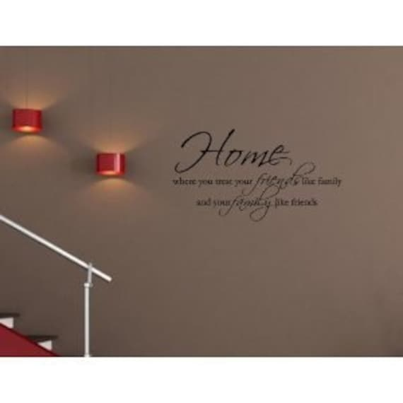 Home Wall Art decals home decor vinyl letters Friends Family Love quotes