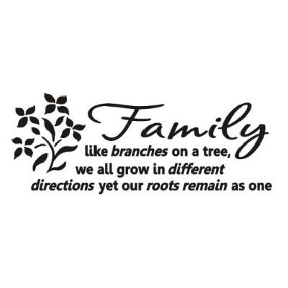 Family Quotes Love: Family Like Branches On A Tree Wall Art Decals Vinyl Love