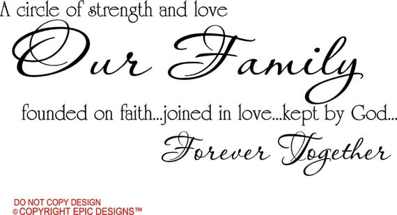 Quotes About Family Strength: A Circle Of Strength And Love Our Family Founded On