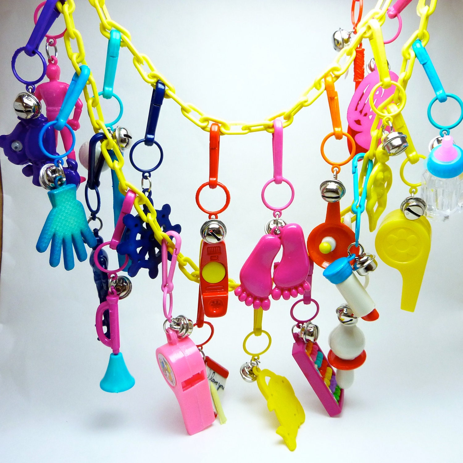 80s charm bracelet vintage 1980s plastic bell charm necklace with 21 charms 5992