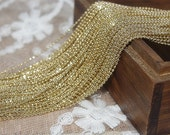 Clearance Sale-Glitter Raw Brass -100 feet handmade jewelry must-have dainty ball chains with spoons-FZ113
