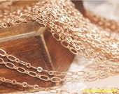 Holiday Sale-Fabulous 100 feet  oval loop chain-rose gold plating over RAW copper-F209