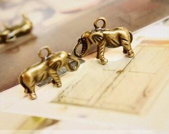 10 PCS elephant pendants-vintage fashion-F431