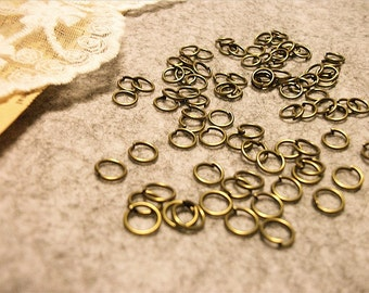 Jewelry handmade must-have jump rings--antique bronze-300pcs-F755