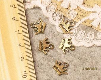 Clearance SALE-princess charms,tags-cute-25 pcs-F364