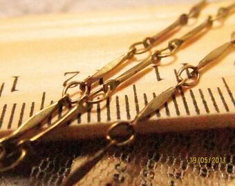 promotion season-6.6 feet fabulous bar chain-brass chain-lozenge-F78