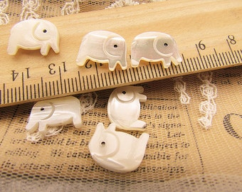 5 pcs cute lucky elephant mop beads,also can be cabochons-F310