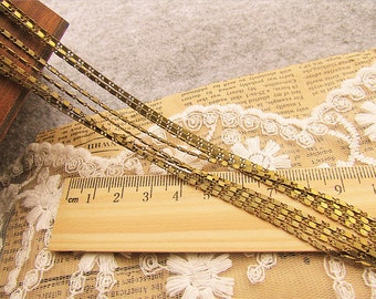WholeSale-75 feet  fantastic flat cable chain-brass chain-F181