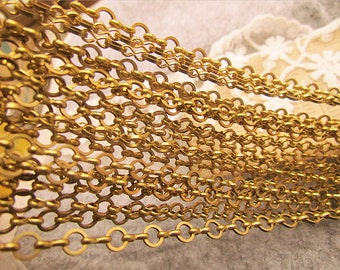 ON Sale-10 feet  fantastic RAW BRASS chain-cable chain-F81