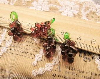 Wholesale -50 pcs fabulous grape beads-eye candy-lampwork glass