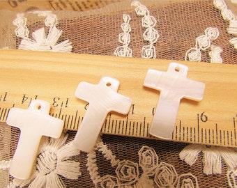 5 pcs cross mop pendants /beads-F346