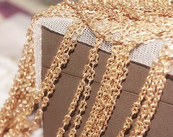 Raw copper chain on Sale-100 feet fabulous geometry linked chain--F369