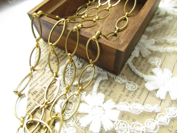 Wholesale 33 feet fabulous oval loop chain-RAW BRASS