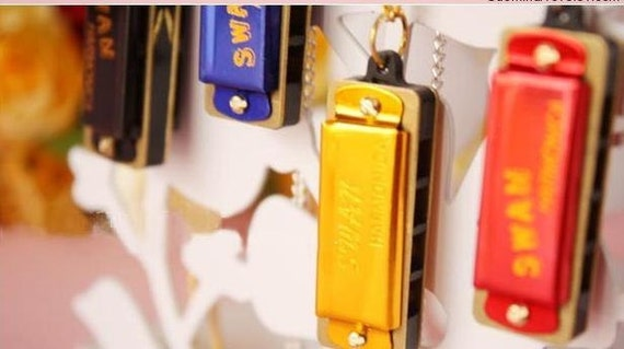 Amazing-5 pcs for you-harmonica pendants-can be played music-miniature-FZ106