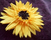 Yellow Sunny Silk Sunflower Brooch and/or Hair pin