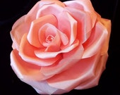 Light Salmon Silk Rose Brooch and/or Hair Pin