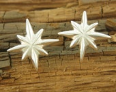 SALE 40 off - Little Starburst Stud Earrings - Sterling Silver