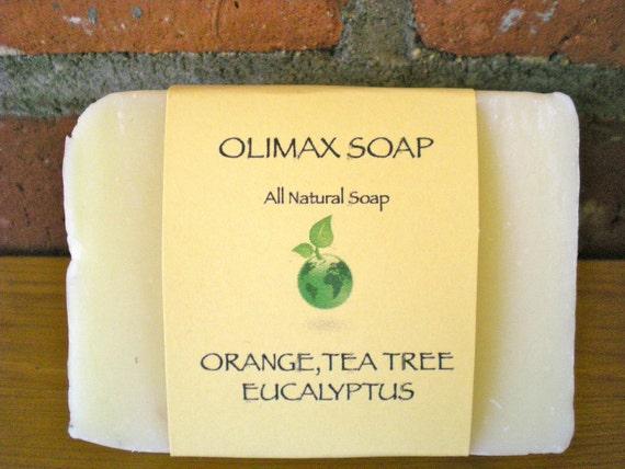 Tea Tree Eucalyptus Orange Cold Processed Soap Shea Butter