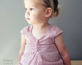 Cora Sweetheart Bubble Romper - Red Seersucker Sunsuit 12M 18M 24M or 2T