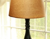 Vintage Metal Table Lamp with Paper Shade