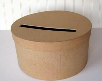 DIY Wedding Card Box Unfinished Round Card Box