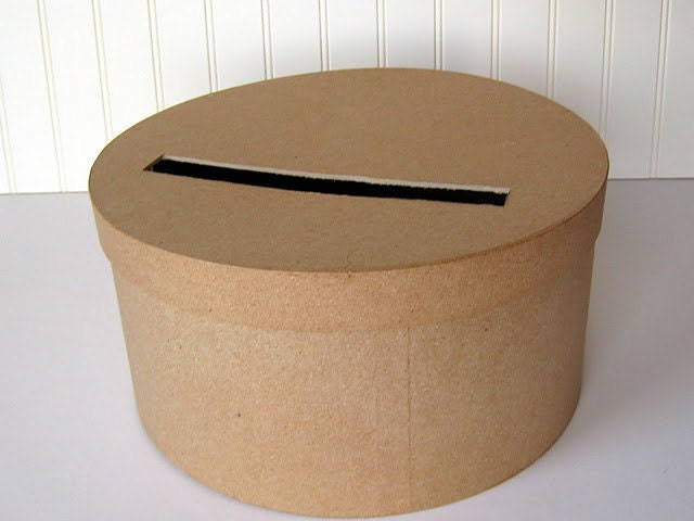 DIY Wedding Card Box Unfinished Round Card Box – Round Wedding Card Box