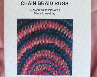 PDF file: Chain Braid Rag Rugs, Instruction Pamphlet, Rugmakers Bulletin No. 4