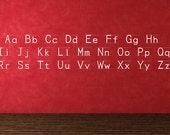 Manuscript D'Nealian Alphabet Wall Decal