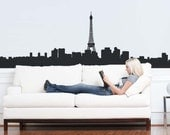 Paris Skyline Wall Graphic Wall Decal Wall Sticker