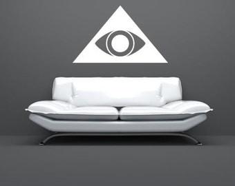 Pyramid Eye Wall Decal