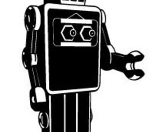 Custom White Robot 36 inch tall
