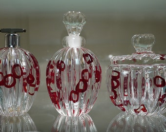 Barovier Murano Glass 3pc. Vanity Set