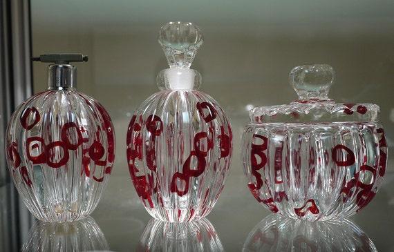 Barovier Murano Glass 3pc. Vanity Set