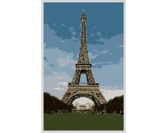 Eiffel Tower Needlepoint Canvas