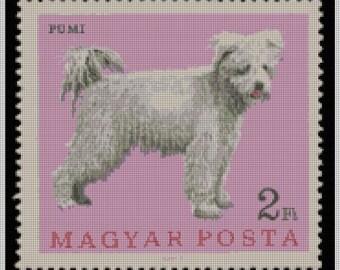 Pumi Terrier Needlepoint Canvas