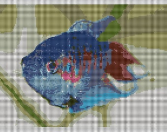 Blue Paradise Fish Needlepoint Kit