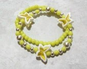Little Girls Shades of Spring Butterfly Bracelets - Yellow - Free Shipping