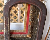 The Maker Of This Wooden Arched Antique Picture Frame Was One Handy Dude