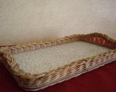 Vintage Wicker Tray
