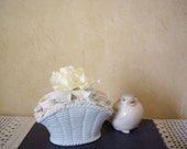 Sale - Vintage Lipstick Holder // Baby Blue // Shabby Chic // French Country