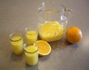 Vintage Glass Juice Milk, juice pitcher, Jelly Jar Glasses