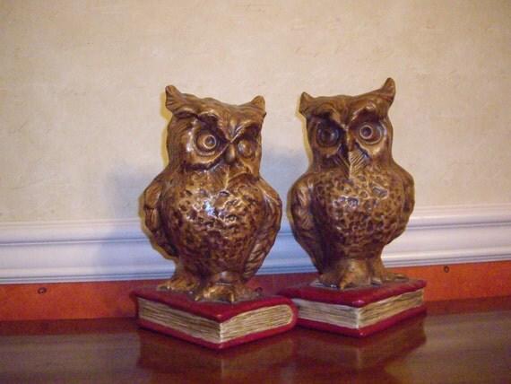 Vintage Owl Bookend...Hoo Hoo...