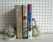 White Book End Nautical Decoration Monkey Fist Knot White Rope Handmade