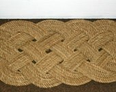 Outdoor Natural Doormat Upcycled Line From Alaska Fisherman Re-Purposed Awesome Rope Rug